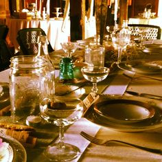 Wedding day guest table.