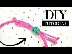 How to Make a Sliding Knot - DIY Video Jewelry Making Tutorial Jewelry Knots, Bracelet Knots, Anklet Bracelet, Diy Videos, Square Knot Bracelets, Sliding Knot, Make Your Own Jewelry, Bijoux Diy, Jewelry Making Tutorials