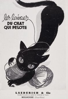 The Cat's Wool ~ Vintage French Ad