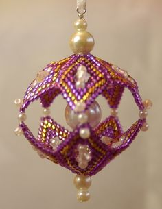 Christmas ornament. (BECAUSE THERE ARE NO INSTRUCTIONS!  At least, I can't find them.  Exquisite.)