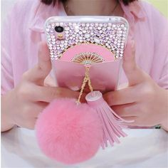 Cellphones & Telecommunications Trustful For Samsung Galaxy A3 A5 A7 J3 J5 J7 2016 2017 Phone Caseglitter Luxury High Quality Bling Diamond Gem Tassel Fox Fur Ball Cover Elegant And Sturdy Package
