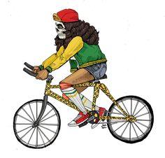 » Bicicletos: Ilustraciones de Gente que Monta Bicicleta en Bogotá por Sako Asko