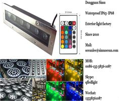smart RF control 6 w linear underground light  from Dongguan simu hardware lighting co,ltd. Auto change color or RF remote control color change or infrared control Smart color change or Wifi control or DMX Control led outdoor lighting