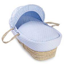 Super Nanny Dimple Moses Basket - Blue |