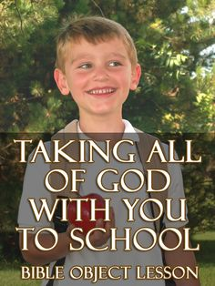 bible object lesson to school
