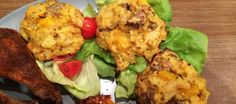 Cauliflower Cakes. Goes well with chicken or fish.
