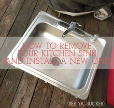 18 best kitchen sinks buying guide images on pinterest kitchen no need to pay someone to disreconnect your kitchen sink when remodeling or replacing countertops solutioingenieria Gallery