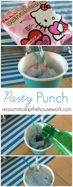 Cotton Candy Party Punch- Reasons To Skip The Housework #frozenparty #punch #cottoncandypunch