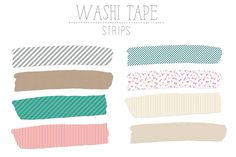Washi Tape Strips by Angie Makes on Tumblr Stickers, Cute Stickers, Masking Tape, Washi Tape, Colour Pallete, Good Notes, Aesthetic Stickers, Sticky Notes, Sticker Design