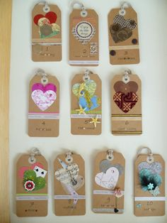 """18th Birthday Tags for my daughter - the theme """"My favourite things"""""""