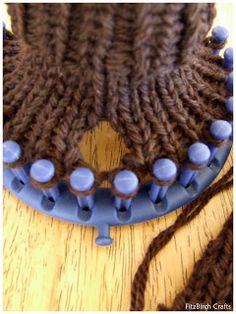 Loom Knit Fingerless Gloves