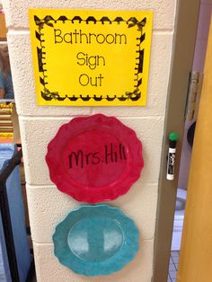 1000 Ideas About Bathroom Sign Out On Pinterest Attendance Sheets