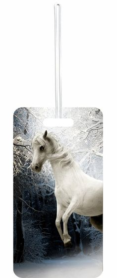 White Horse Rosie Parker Inc. Set of 8 Luggage Tags with Personalized Back
