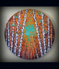 Your place to buy and sell all things handmade Birch Trees Painting, Birch Tree Art, Painting Edges, Art Texture, Original Paintings, Original Art, Red Tree, Illustrations, Painting Inspiration
