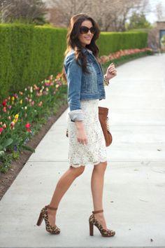 Long White Denim Dress