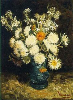 Vincent van Gogh: The Oil Paintings: Flowers in a Blue Vase. Paris: 1886-87