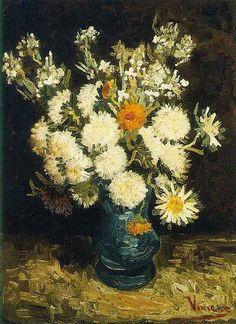 Vincent van Gogh: The Oil Paintings: Flowers in a Blue Vase. Paris: 1886-87