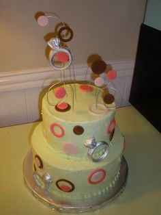 Wedding Ring wedding shower cake