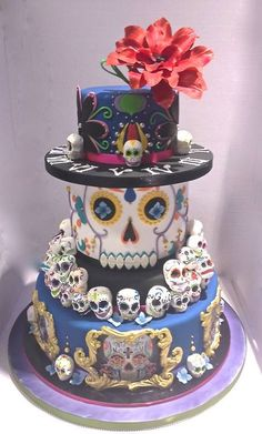 Day of the dead cake - For all your cake decorating supplies, please visit craftcompany.co.uk