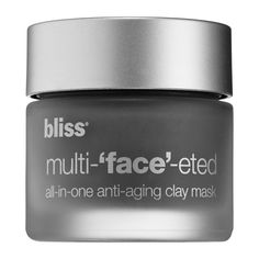 Bliss Multi-'Face'-eted All-In-One Anti-Aging Clay Mask - NEW IN BOX #bliss