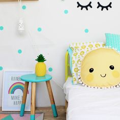 Pineapple Night Light - www.fourcheekymonkeys.com Bedroom For Girls Kids, Little Girl Rooms, Kids Rooms, Kid Bedrooms, Childs Bedroom, Boy Rooms, Nursery Decor, Bedroom Decor, Bedroom Wall