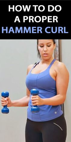 .THIS IS HOW YOU DO A PROPER HAMMER CURL: http://therunningbug.co.uk/videos/b/how-to/archive/2015/04/13/how-to-do-a-hammer-curl.aspx?utm_source=Pinterest&utm_medium=Pinterest%20Post&utm_campaign=ad #HammerCurl #exercisetips #workout #fitness