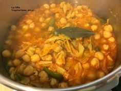 La Olla Vegetariana: Potaje de garbanzos con coles.-
