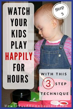 Do you wish your children would play independently for longer? I have a proven 3 step technique that will work for any child.  This post is all about Step Three. Click the picture to learn how! (and to find Step one and Step Two)