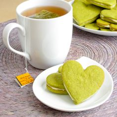 Honey Green Tea Sandwich Cookies.