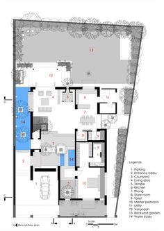 Casa Ladrillo,Planta nivel suelo
