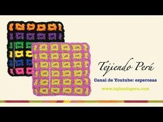 ▶ Cómo tejer el punto filet entretejido a crochet - YouTube - video tut