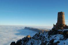 Grand Canyon coberto por nuvens, um raro momento | #Fotografia, #GrandCanyon, #ZacharyStieber