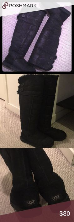 cd9c3a681bb UGG Bailey Button OTK Boots Just over the knee