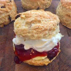 Ingredients:  4 cups flour  pinch of salt  6 tablespoons sugar plus more for sprinkling  2 teaspoons baking powder  6 tablespoons butter cut into pieces  3 eggs divided  3/4 cup milk    Directions:  Preheat oven to 475. Line a baking sheet with parchment paper or spray