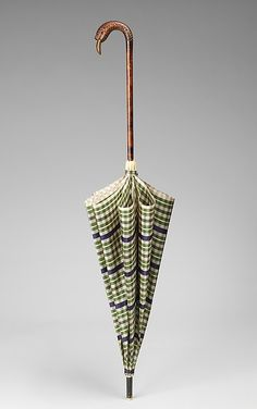 Parasol 1920, American, Made of silk, wood, and metal