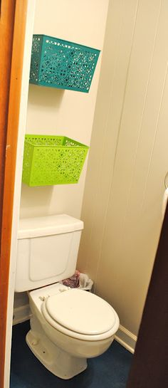 My sweet friend's awesome blog & small bathroom storage idea! Must have under sink in master bath!