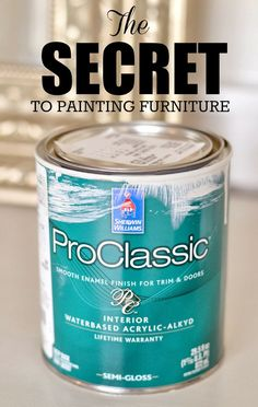 Ever paint furniture only to have it peel & crack & ultimately just not look very good? This post explains how to avoid those common problems AND what products you can use to get results you will love!