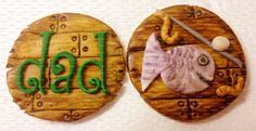 Fishing Dock Father's Day Cupcake Toppers (Dozen) on Etsy, $18.00