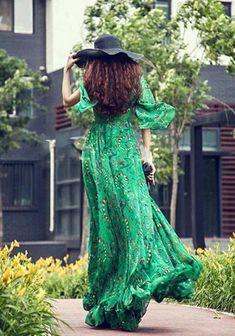 Gorgeous Green Boho style...