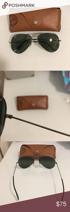Authentic Ray Ban glasses with black shades Authentic Ray Ban glasses with black shades. Comes with case ray ban Accessories Glasses