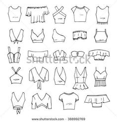 Fashion sketches drawing clothes fashion drawing drawings clothing sketches fashion design hand drawn vector clothing set 24 models of trendy crop tops isolated on white fashionsketches source by xyjensen clothes fashion drawing dress from my sketch book Fashion Design Sketchbook, Fashion Design Drawings, Fashion Sketches, Drawing Fashion, Fashion Drawing Dresses, Dress Design Sketches, Croquis Fashion, Fashion Logo Design, Pencil Art Drawings