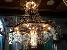 wood ship wheel chandelier with crystal . for sale ...  hasanein@hotmail.com