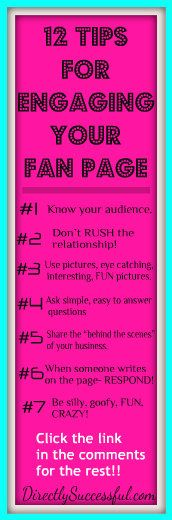 12 Tips for engaging your fan page audience.  How NOT to be LAME on Facebook.