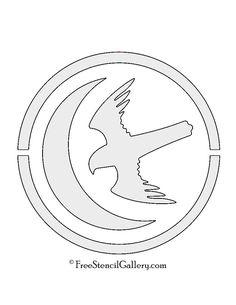 Game of Thrones - House Arryn Sigil Stencil