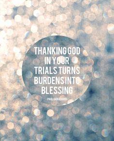 Being thankful.