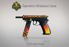 Counter-Strike Global Offensive: Operation Breakout Case: CZ75-Auto Tigris