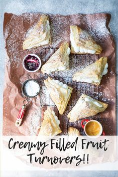 Delicious puff pastry fruit turnovers filled with sweet vanilla whipped cream! Find the recipe here at Foodness Gracious Fruit Love, Fruit Jam, Love Food, Frozen Puff Pastry, Puff Pastry Sheets, Vanilla Whipped Cream, Healty Dinner, Variety Of Fruits, Recipe For Mom
