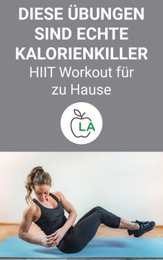 10 HIIT Übungen für zuhause – Mit Trainingsplan Diese 10 HIIT Üb… 10 HIIT exercises for at home – with a training plan You need to know these 10 HIIT exercises. Check out the weight loss training plan here and see why HIIT workouts are so effective. Planet Fitness Workout, Fitness Workouts, Fitness Motivation, Yoga Fitness, At Home Workouts, Health Fitness, Physical Fitness, Yoga Routine, Cardio Routine