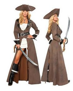 Aliexpress.com : Buy Deluxe High Quality Pirate Costumes For Ladies 2013 Women Deluxe Halloween Cosplay Carnival Dress Wholesale Reatil from Reliable One Eyed Off Shoulder pirate fancy dress queen pirate adult costumes Carnival Halloween Women female Pirate costume Dress 2013 suppliers on C  F Halloween Fashion Store $48.99