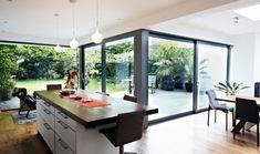 floor to ceiling windows kitchen - Google Search
